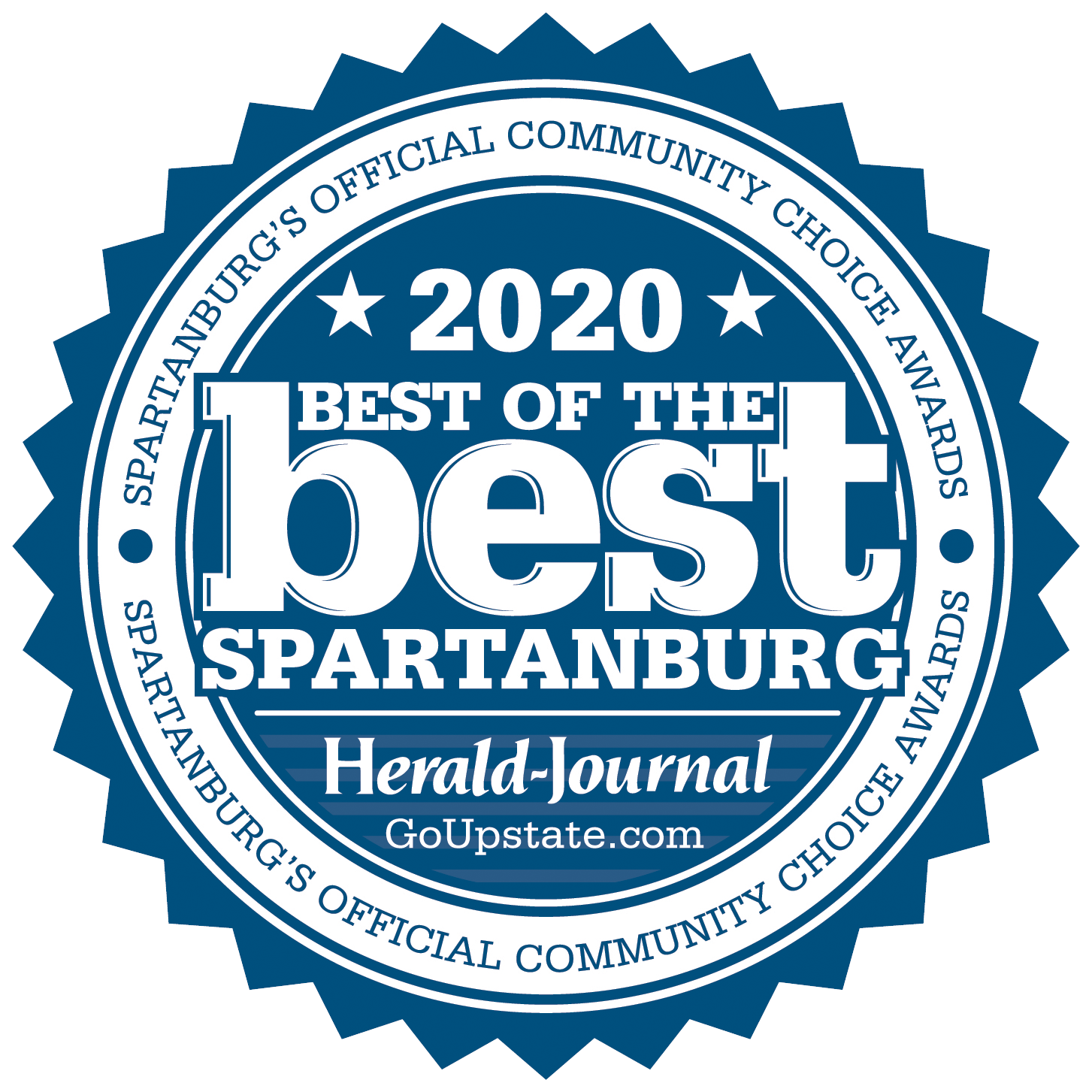 Best of Best Spartanburg 2020 - Finalist Badge