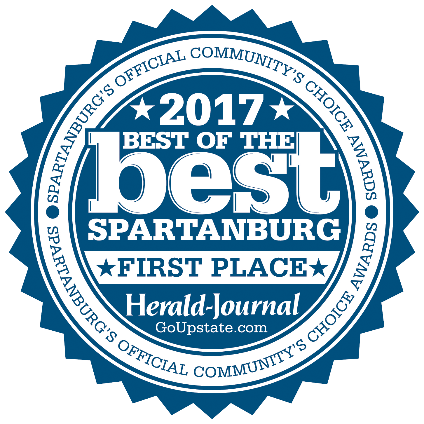 Best of Best Spartanburg 2017 - First Place Badge