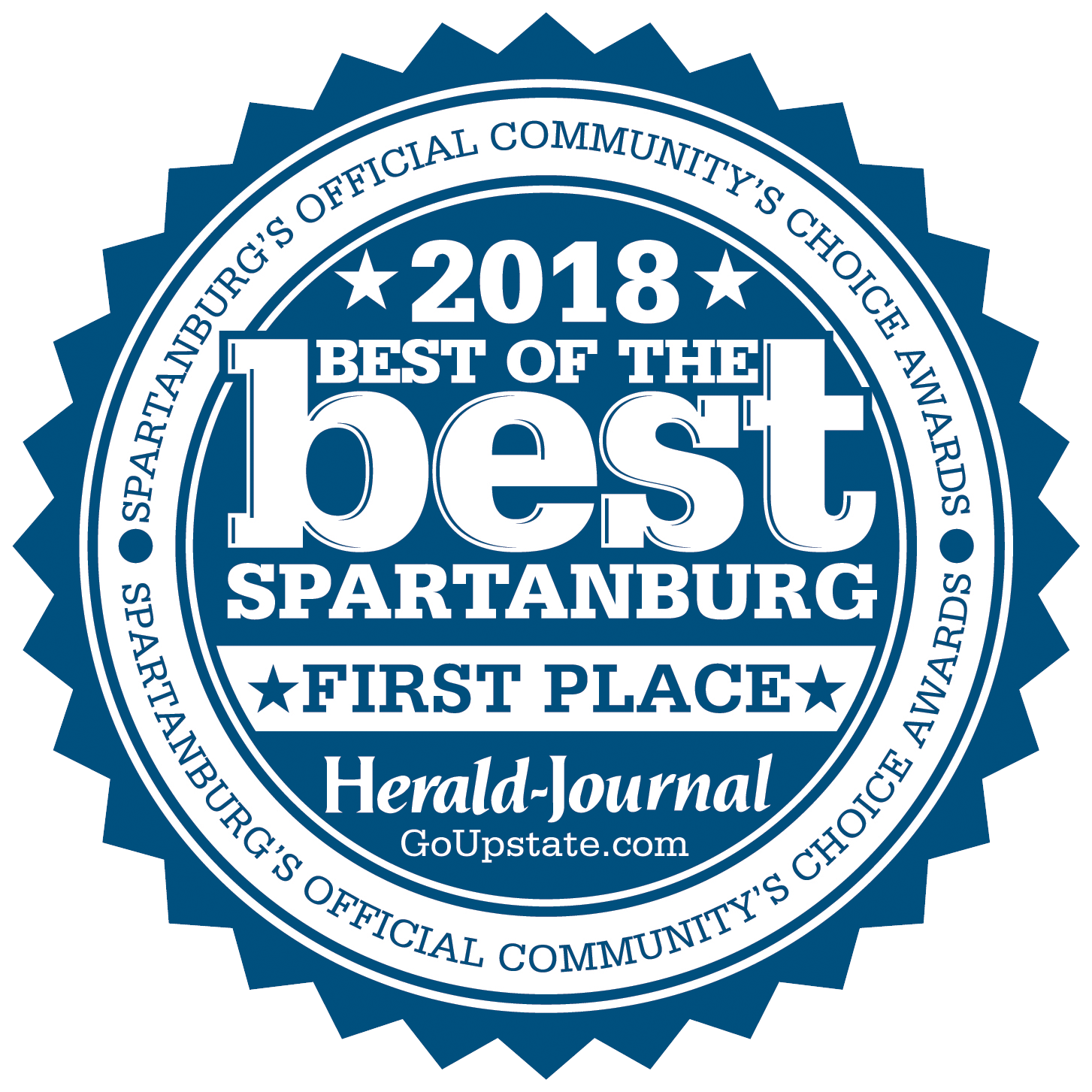 Best of Best Spartanburg 2018 - First Place Badge