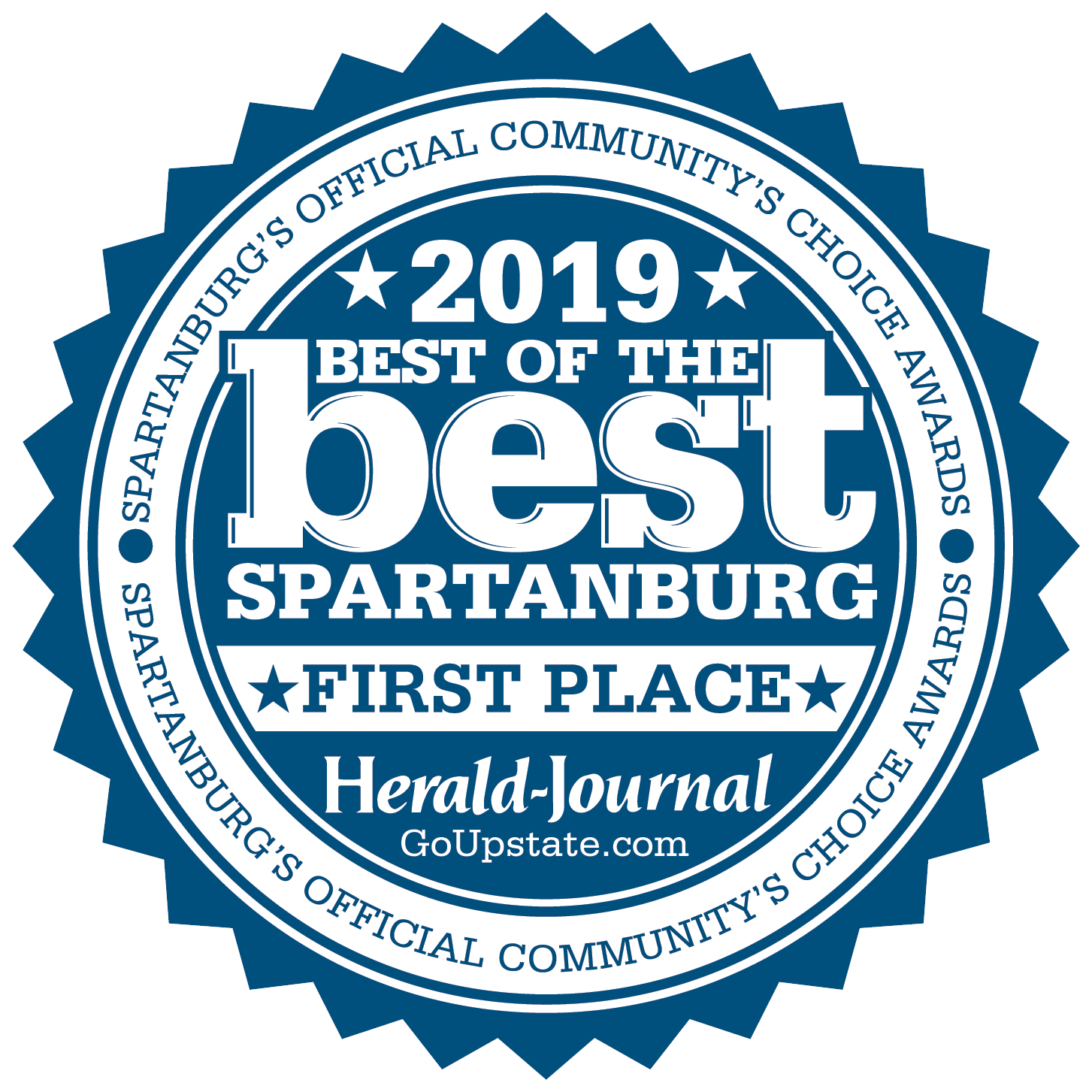 Best of Best Spartanburg 2019 - First Place Badge