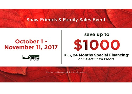 2017 Fall Friends and Family Sale
