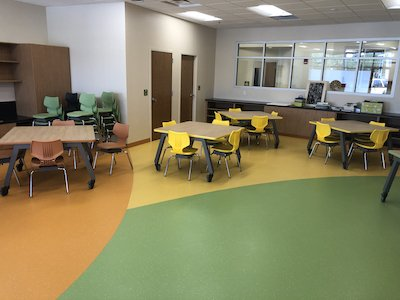 Colorful Classroom Flooring