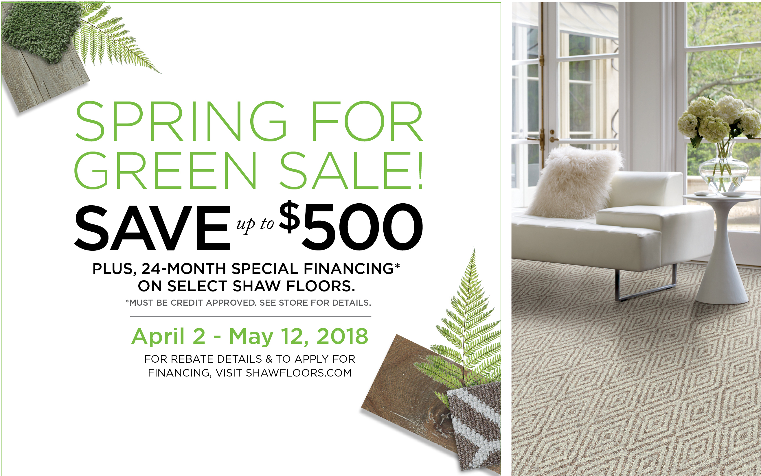 Shaw on Sale this Spring